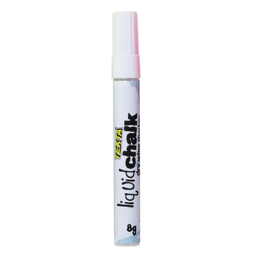 TEXTA LIQUID CHALK MARKER Dry Wipe Bullet 4.5mm Nib White