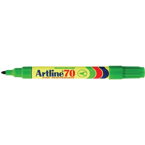 ARTLINE 70 PERMANENT MARKERS 1.5mm Bullet Nib Green