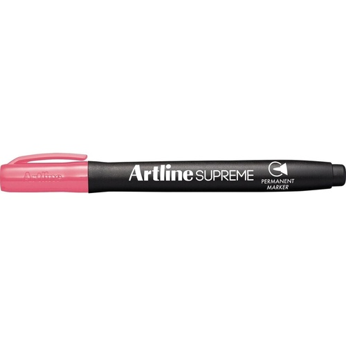 ARTLINE SUPREME PERMANENT MARKERS Bullet Nib Pink Pack of 12