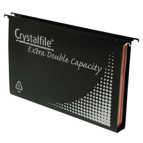 CRYSTALFILE SUSPENSION FILES PP Complete DBL Capacity Black 10 Pack