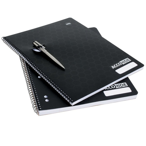 ​MARBIG ACCOHIDE RECYCLED LECTURE NOTEBOOK Black A4 250 Page