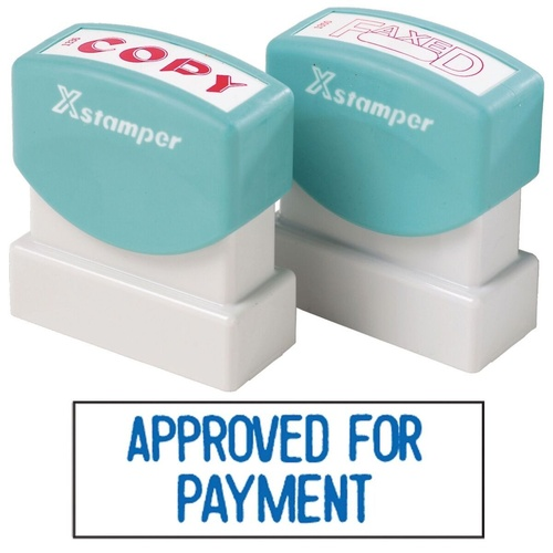XSTAMPER -1 COLOUR -TITLES A-C 1025 Approved For Payment Blue
