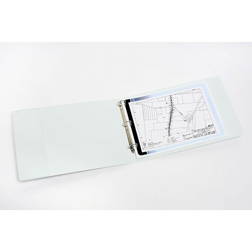 MARBIG INSERT BINDER PVC White A3 Landscape 3D Ring 32mm