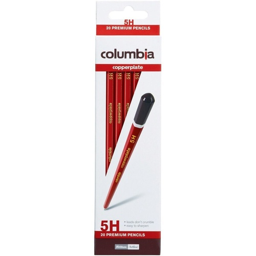 COLUMBIA COPPERPLATE PENCIL Hexagon 5H