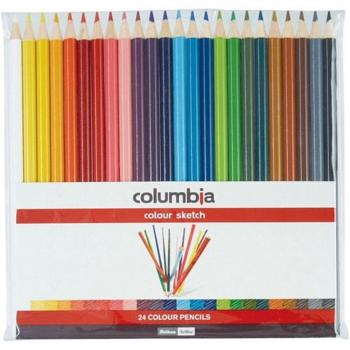 COLUMBIA COLOURSKETCH PENCILS Full Length Assorted