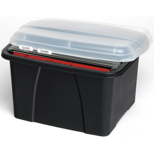 CRYSTALFILE ENVIRO PORTA BOX With 10 Files L490xW400xH285mm