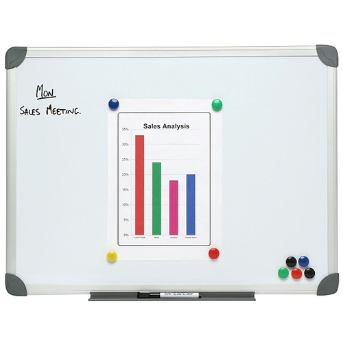 NOBO COMMERCIAL Wall Mount Whiteboard Magnetic 1200mm x 1800mm Aluminum Frame