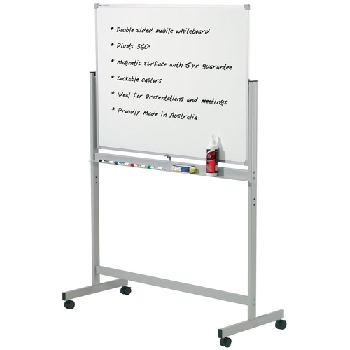 PENRITE PREMIUM WHITEBOARDS Mobile Magnetic 1200x900mm