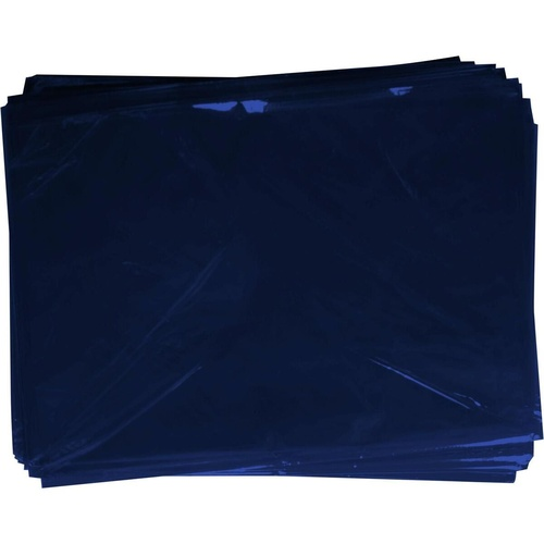 RAINBOW Cellophane 750mm x 1m Dark Blue Pack of 25 Sheets