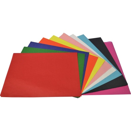 Rainbow TISSUE PAPER Acid Free 17gsm 500mm x 750mm Assorted Pack of 100