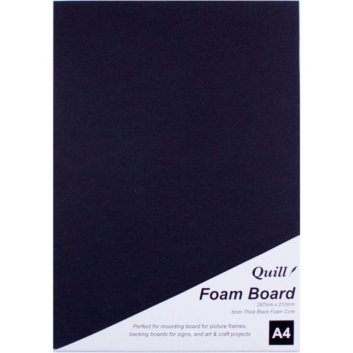 QUILL BOARD Foam A4 Black