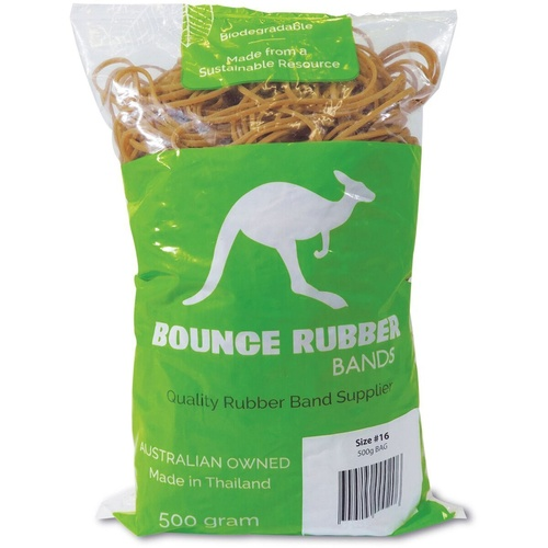 BOUNCE ECO RUBBER BANDS Size 16 500Gm Bag