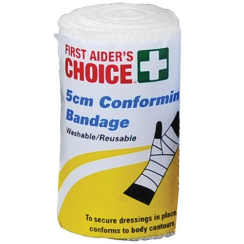 First Aider's Choice Conforming Bandage 5cm x 1.8m Single Roll