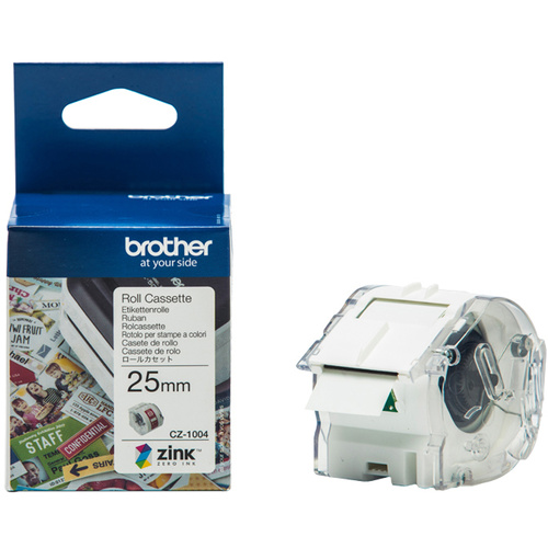 BROTHER CZ-1004 GENUINE CASSETTE ROLL 25mm x 5m