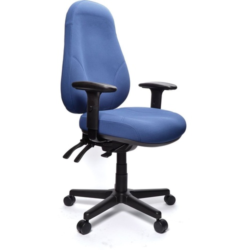 BURO PERSONA CHAIR With Arms - Dark Blue Fabric