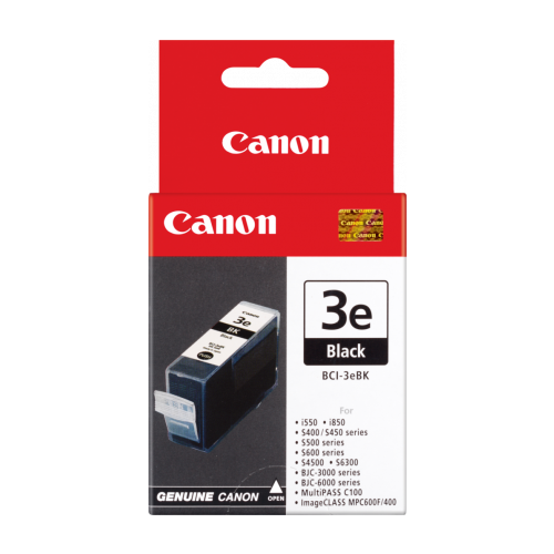 CANON GENUINE INK Cartridge BCI-3EBK Black 500 Pages