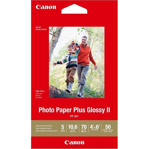 CANON GLOSSY PHOTO PAPER 4X6 50 Sheets