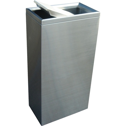 COMPASS 40L SWING BIN Brushed stainless steel