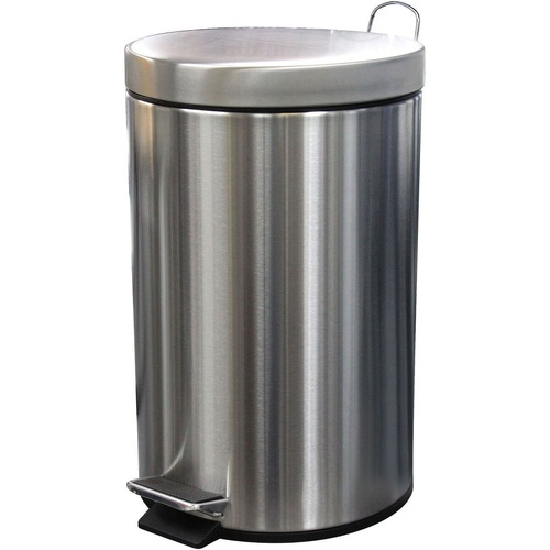 COMPASS STAINLESS STEEL PEDAL BIN 12 Litre 245x385mm