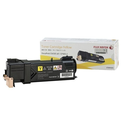 FUJI XEROX CT201635 GENUINE Toner Cartridge Yellow 3,000 pages Suits 305 series