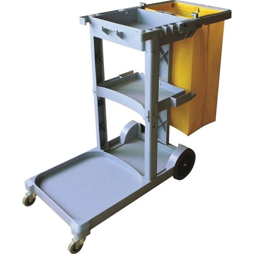 CLEANLINK JANITOR'S TROLLEY 3 Tier 1135 x 510 x 980mm Grey