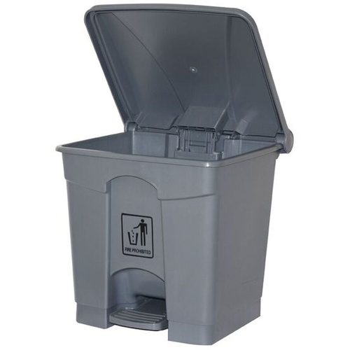 CLEANLINK RUBBISH BIN With Pedal Lid 68 Litre Grey