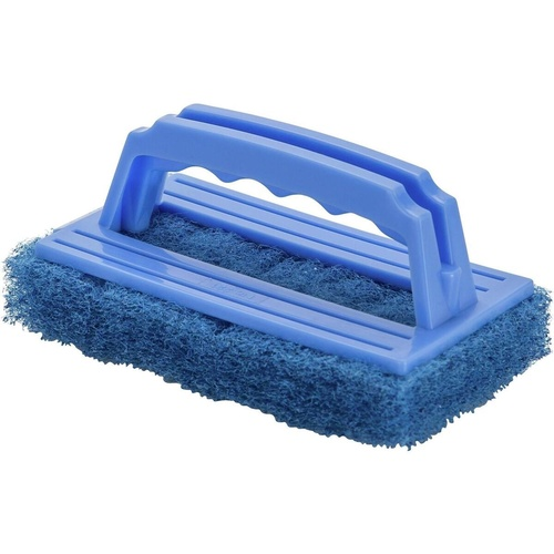 CLEANLINK DISH SCRUBBERS H/Duty with Handle Blue