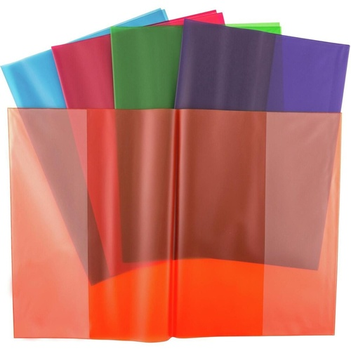 CUMBERLAND BOOK COVER Assorted Tinted Vertical Pocket A4 300mm x 440mm Overall Pack of 25