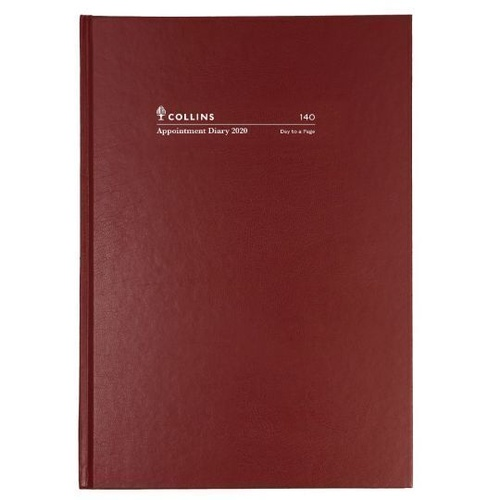 2020 COLLINS APPOINTMENT DIARY A4 Day To A Page Burgundy Early Edition