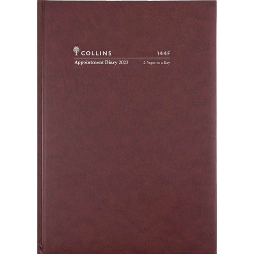 2020 COLLINS APPOINTMENT DIARY A4 2 Pages To A Day Burgundy