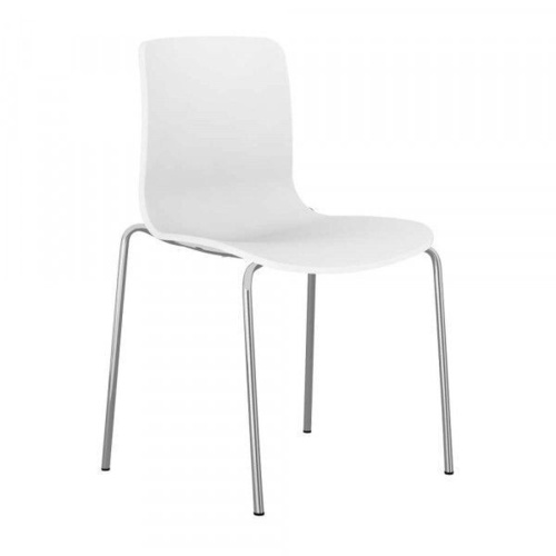 ACTI 4C 4 LEG CHAIR Chrme Frame With Plastic Shell