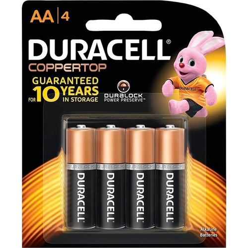 DURACELL COPPERTOP BATTERY - AA Pack of 4