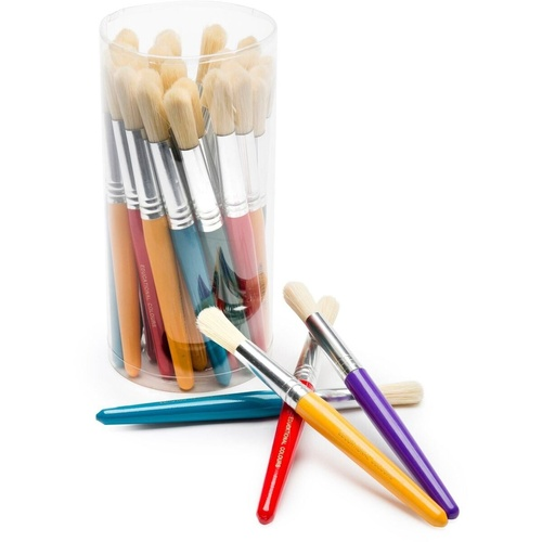 EC STUBBY PAINT BRUSHES - Stubby Plastic Handle, Tub of 30 Brushes