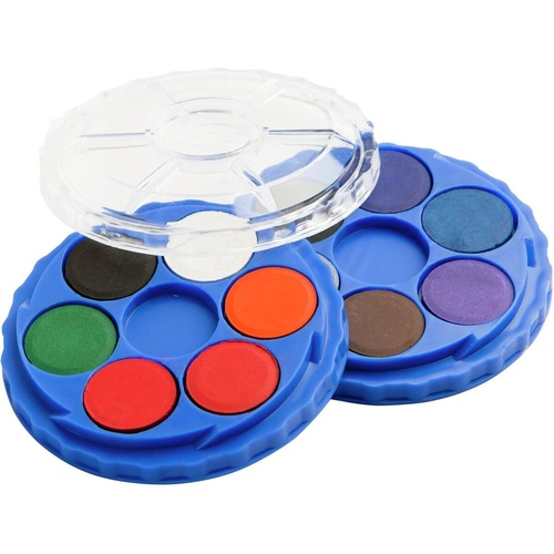 EC PAINT DISC STACK & TWIST WATERCOLOUR SET 12 Colours
