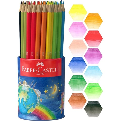 FABER CASTELL -Water Colour Pencils cup of 72