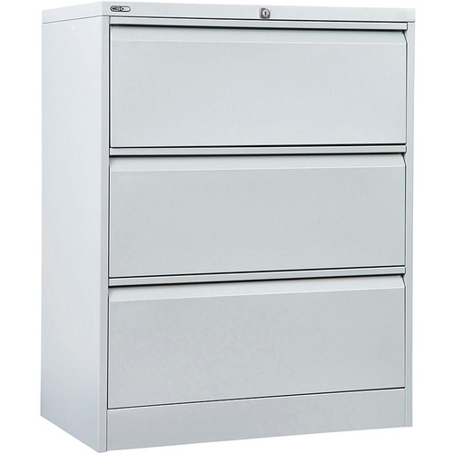 GO LATERAL FILING CABINET 3 DR Silver Grey H1016xW900xD470mm