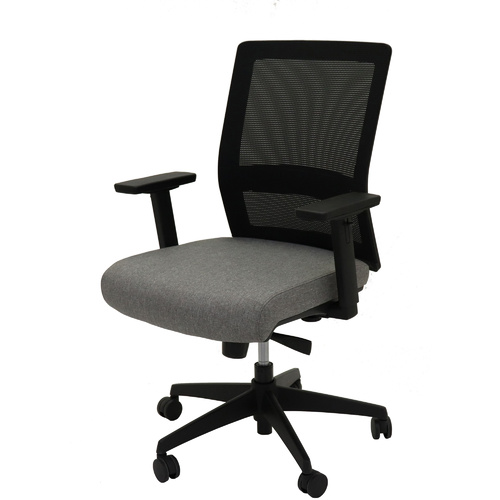 RAPIDLINE GESTURE MESH CHAIR W480 x D470 x H450-540mm Black/ Grey