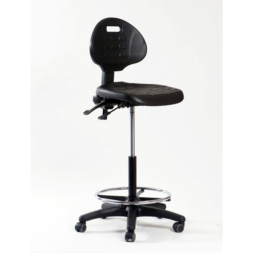 WERK NXR-2 DRAFTING CHAIR Black With Foot Ring