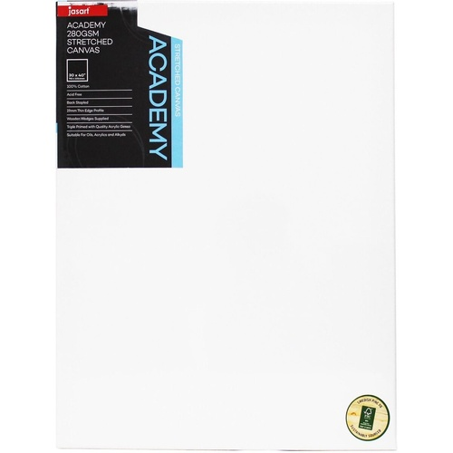 Jasart Academy Canvas 280gsm 30x40 Inch/ 762 x 1016mm Thin Edge