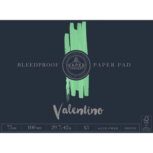 THE PAPER HOUSE Valentino Bleedproof Pad A3 75gsm 100 Sheets
