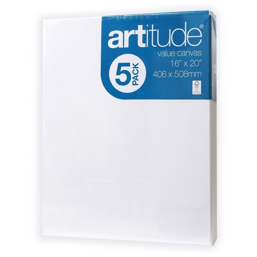 Artitute Canvas 16x20 Inch / 406 x 508mm Thin Edge Pack of 4