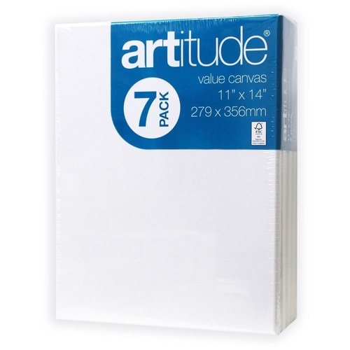 Artitude Canvas 11x14 Inch / 279x356mm Thin Edge Pack of 7