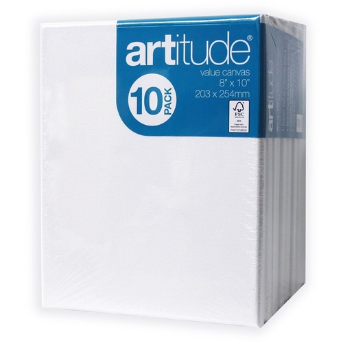 Artitude Canvas 8x10 Inch / 203 x 254mm Thin Edge Pack of 4