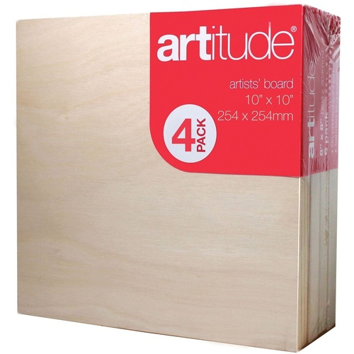 Artitude Board  10x10 Inch / 254 x 254mm Thick Edge Pack of 4