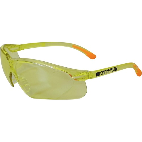 MAXISAFE KANSAS SAFETY GLASSES Amber