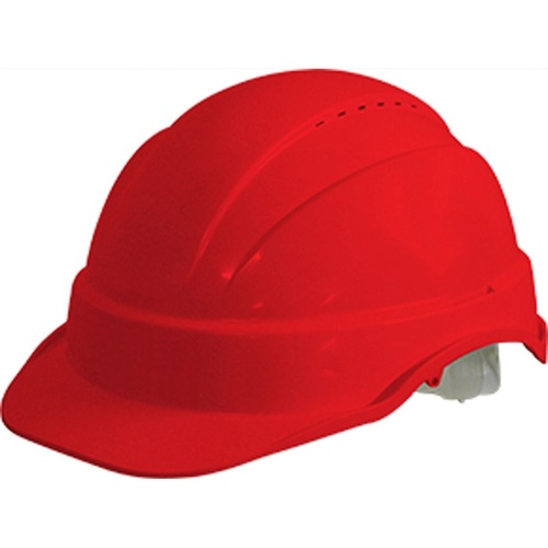 MAXISAFE VENTED HARD HAT Sliplock Harness Red