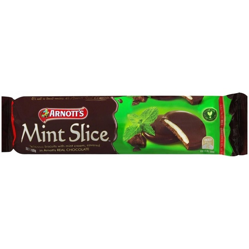 ARNOTTS BISCUITS 200gm Choc mint Slice