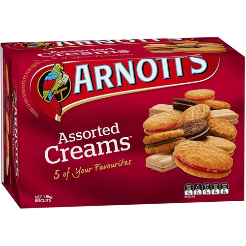 ARNOTTS BISCUITS 1.5k Assorted Cream Bulk Pack