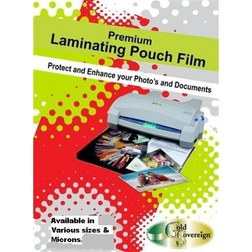 GOLD SOVEREIGN LAMINATING Pouches A4 100 Micron Pack of 100