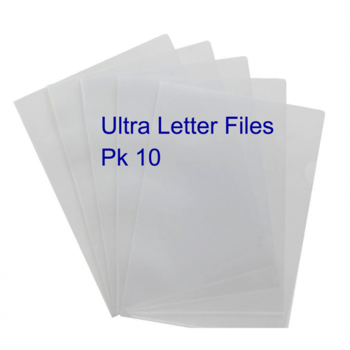 A4 Ultra Letter Files Pkt 10 - Clear